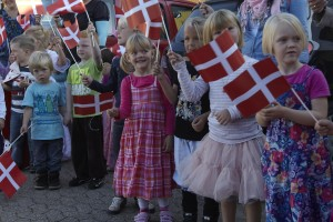 Børn med flag